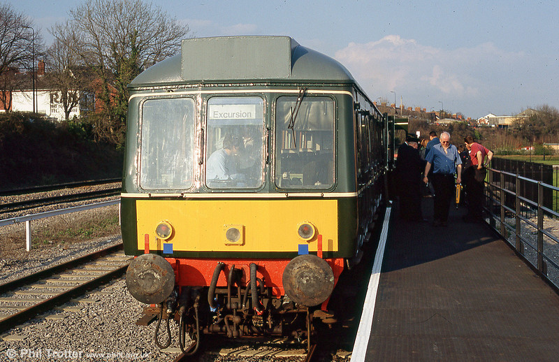 The Barry Island Railway's class 115 at Woodham Halt in May 2005.
