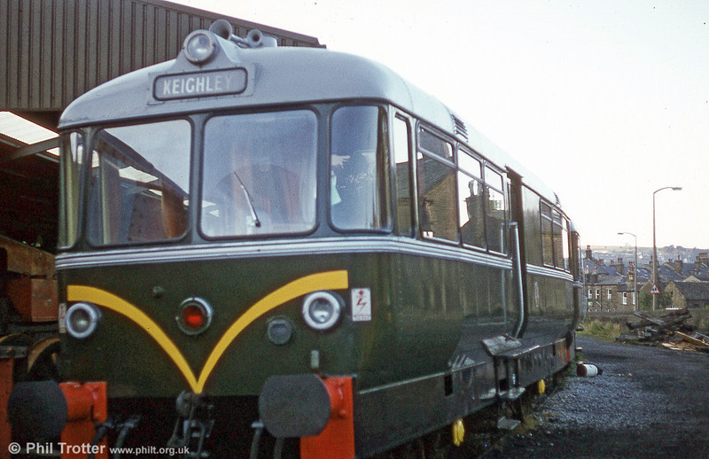 Waggon und Maschinenbau railbus 79962 at the Keighley and Worth Valley Railway.