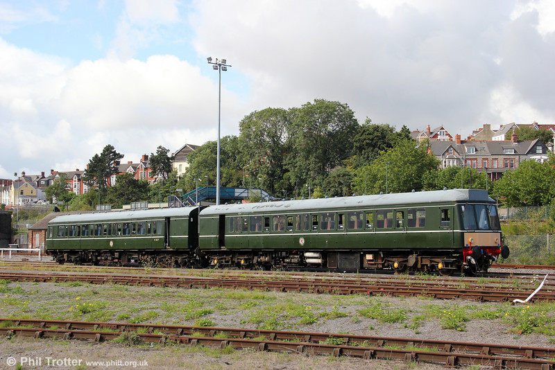 A leftover from the previous regime at the Barry Tourist Railway is this Class 115 dmu seen at Barry depot on 28th August 2011.
