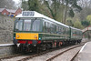 The Dean Forest Railway's class 108 Derby Lightweight dmu at Parkend on 22nd April 2006.