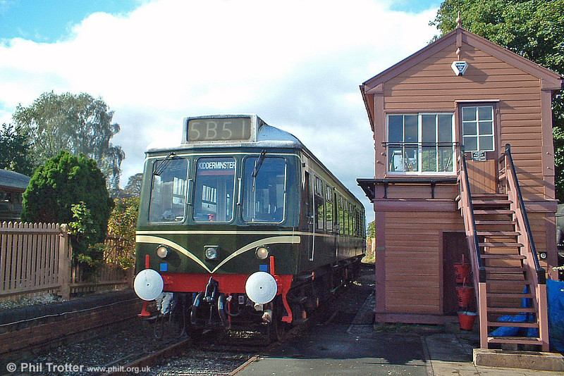 A class 108 dmu waits at Arley, ready to return with a 'local' for Kidderminster on 4th October 2003.