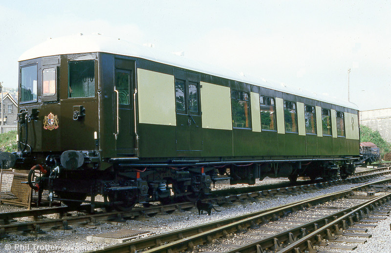 Former 1932 Brighton Belle DMPBT no. 92 at The North Norfolk Railway in June 1987.
