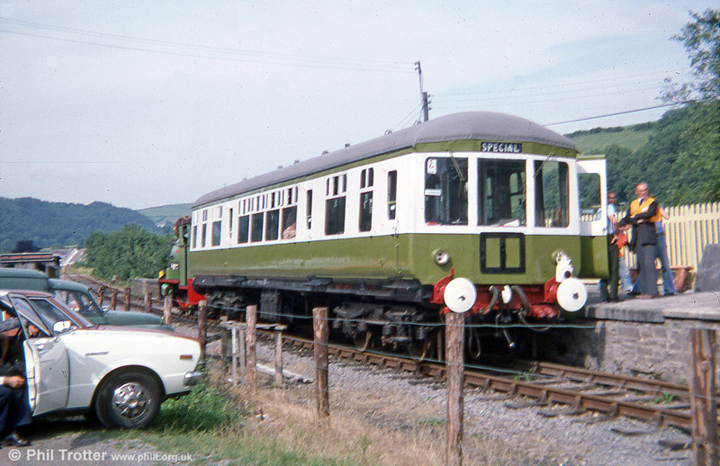 Gloucester RCW class 100 DTCL no. 56317 at Bronwydd Arms, Gwili Railway in August 1978, the line's first season of operation.