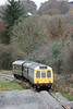 The Gwili Railway's class 117 dmu is seen approaching Abergwili, Carmarthen with the 1300 members' special from Bronwydd Arms on 16th November, 2013.