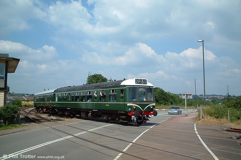 Derby Lightweight class 108 dmu arrives at Lydney Junction with the 1405 from Norchard Low Level on 9th July 2005.