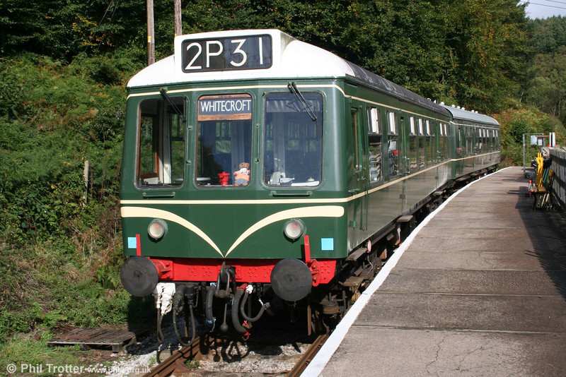 The Dean Forest Railway's Derby Class 108 unit at Norchard High Level on 9th October 2005.