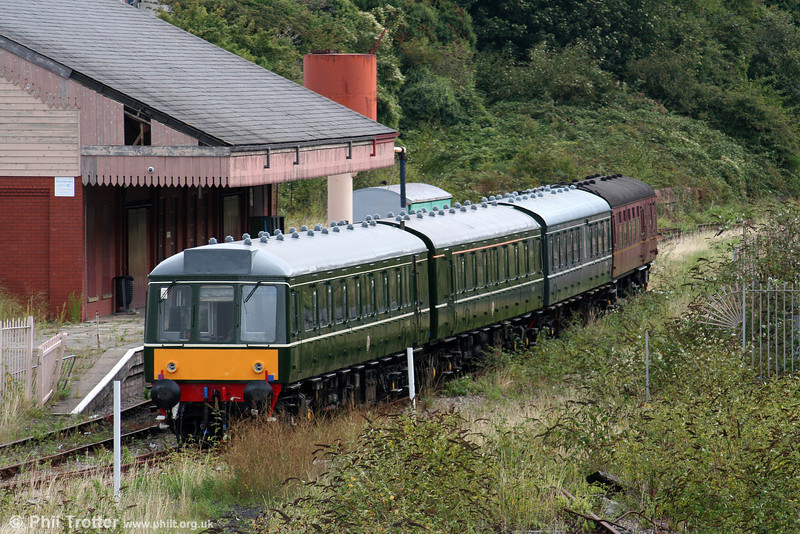 The last vestige of the previous Vale of Glamorgan Railway; the class 115 dmu awaits a decision on its future at Plymouth Road on 5th September 2009.