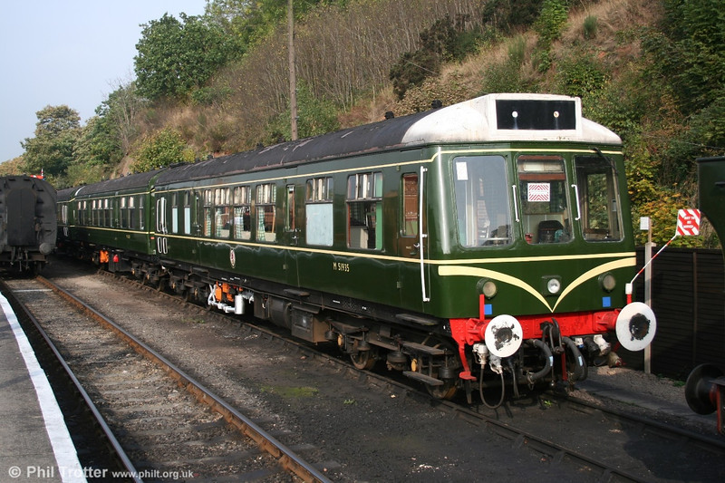 One of the SVR's class 108 dmu sets, headed by M51935 awaiting its next turn at Bewdley on 15th October 2005.