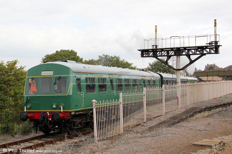 The Barry Tourist Railway's class 101 dmu in use as locomotive-hauled stock at Barry Island on 3rd September 2011.