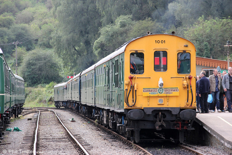 Preserved 'Hastings' demu no. 1001 at Norchard Low Level, DFR on 15th September 2012.