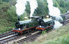 A South Eastern & Chatham Railway pairing on the Bluebell Railway with 'H' class no. 263 and 'C' class no. 592.