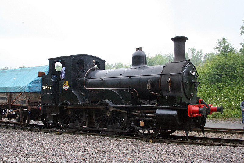 A study of Beattie 2-4-0WT no. 30587, dating from 1874 at the Cranmore 150 Quarry Gala Weekend, Merehead on 21st June 2008.