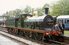 The C-class 0-6-0 was developed by Wainwright as his standard goods design. 592 was built in 1902, one of a class of 109.