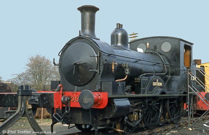1874-built Beattie 2-4-0WT 30585 photographed at Quainton Road.