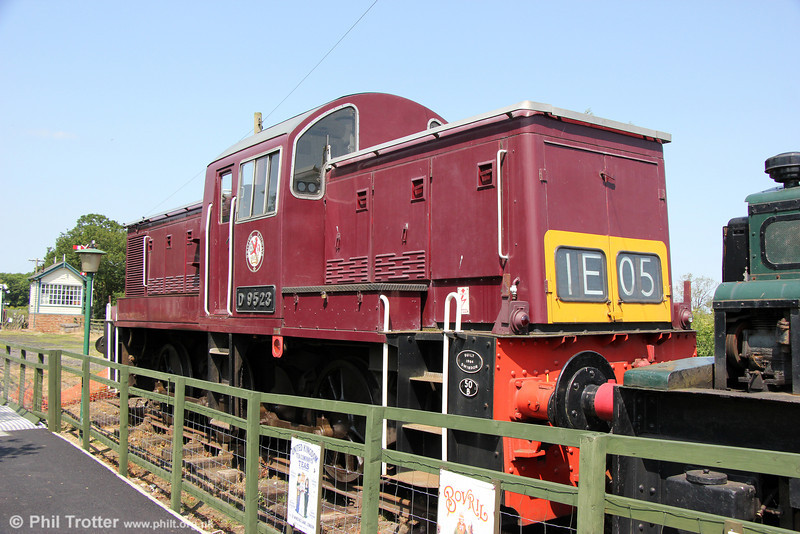 WR Class 14 0-6-0DH D9523 at the Derwent Valley Light Railway, York on 5th July 2013.