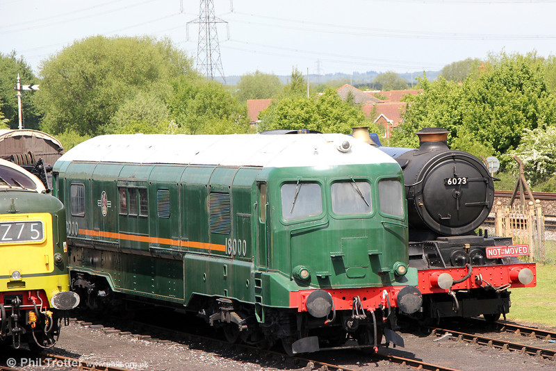 WR gas turbine prototype no. 18000 at Didcot on 26th May 2013.