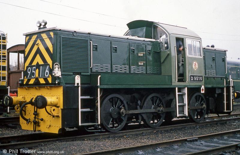 Class 14 0-6-0DH 'Teddy Bear' no. D9516 at Loughborough, Great Central Railway.