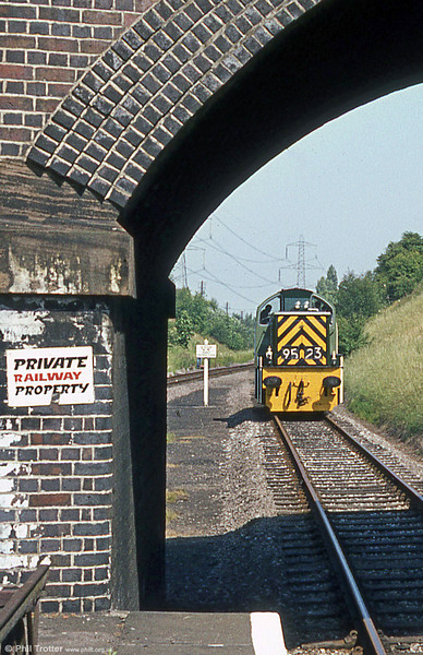 Class 14 no. D9523 at Rothley, Great Central Railway in July 1984.