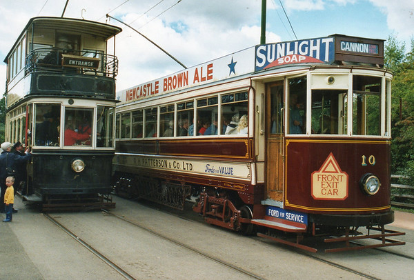 c) tram 264(ex Sheffield),tram 10(ex Gateshead)  Beamish 8-9-01