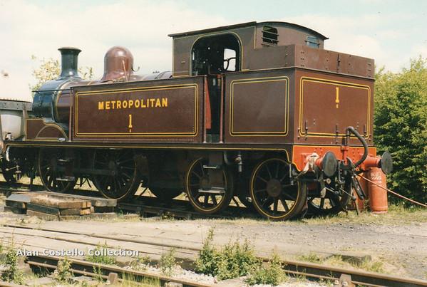 Metropolitan No 1 Metropolitan Railway E Class  0-4-4T steam locomotive