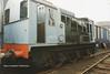(British Rail Class 08) D3000 first Class 08 built South Yorkshire Railway Meadowhall 27-4-96