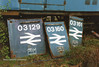 (British Rail Class 03) 03129,160,161 cut away cab number panel South Yorkshire Railway Meadowhall 27-4-96