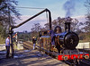 """E4 class No. 473 """"Birch Grove"""" taking water at Sheffield Park, on 17th February 2002."""