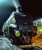 A4 60009 under the lights on the Pit Road at Ropley <br /> on 18th November 2005. Scanned Transparency.