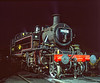 Ivatt 41312 under the lights in Ropley Yard during the Steam Gala on 10th March 2005. Scanned Transparency.