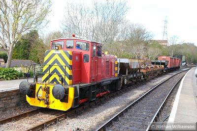 River Annan shunting wagons in Bitton  11/04/15