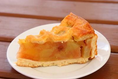 Apple Pie. Served in Bitton Railway Station Cafe on the Avon Valley Railway  11/04/15