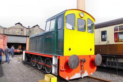 "DL2 ""Richard Clark"" in the Appleby & Frodington Railway's Depot 02/04/11"