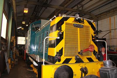 07012 in the Appleby & Frodington Railway's Depot 02/04/11