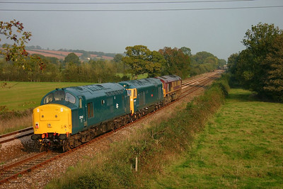37142 + 50042 + 66182 head south through Gunstone Mill on the: 0Z66 14:55 Meldon Quarry to Bodmin Parkway  15/10/06