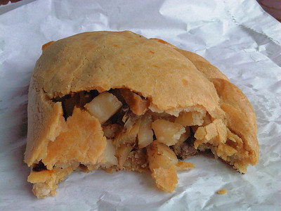 Pasty, served on Bodmin General Railway Station Cafe  24/09/11