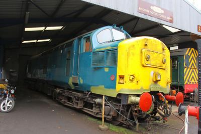 37142 under restoration on Bodmin General Shed 24/09/11