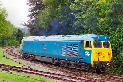 50042 runs round at Bodmin Parkway 24/09/11