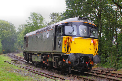33110 runs round at Boscarne Junction 24/09/11