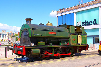 """Henbury"" stands in the sunshine outside M-Shed on the Bristol Harbour Railway  28/087/12"