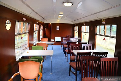 "975046 ""Laboratory 11"" interior, now restored to an open saloon  975046 was converted from Mk1 BSK 34329 into a Tribology testing coach for British Rail"