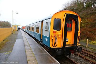 61743, 4CEP EMU Driving Motor stands in Meldon ready to work: 12:20 Meldon Quarry to Okehampton  03/04/15