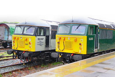 56097 & 56303 in Ruddington Station 15/05/11