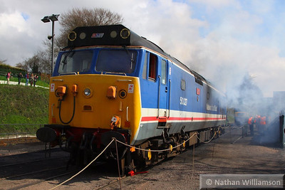 50027 starts up in Ropley  27/04/13