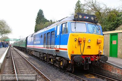 50027 calls at Medstead on the: 11:45 Alresford to Alton  27/04/13