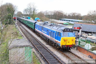 50027 arrives into Medstead on the: 11:45 Alresford to Alton  27/04/13