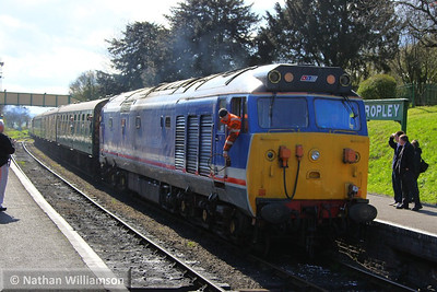 50027 arrives into Ropley  26/04/13
