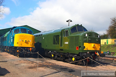 45132 & 37905 stable in Ropley  27/04/13