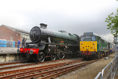 45596 & 31601 on display in York Railfest  06/06/12