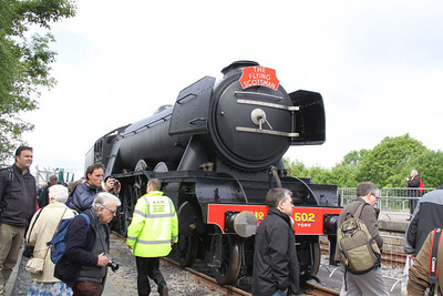 "4472 ""Flying Scotsman"" on display in York Railfest  06/06/12"