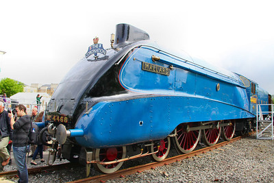"4468 ""Mallard"" on display in York Railfest  06/06/12"